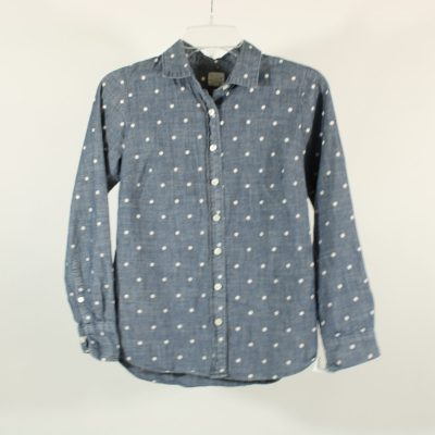 J.Crew Chambray Polka Dot Shirt | XXS
