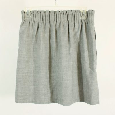 J.Crew Gray Cinch Waist Wool Blend Skirt | Size 2