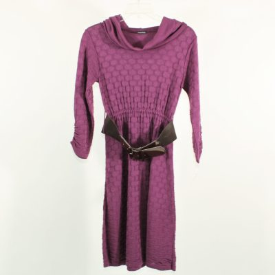 Maurices Purple Knit Belted Dress | S