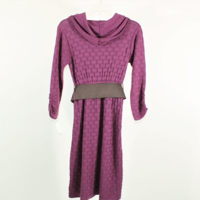Maurices Purple Knit Belted Dress   S