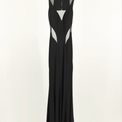 Betsy Adam Black Cutout Prom Formal Gown | Size 4