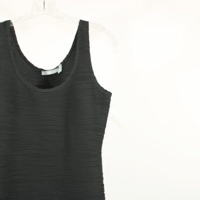 My Collection Black Textured Dress   S
