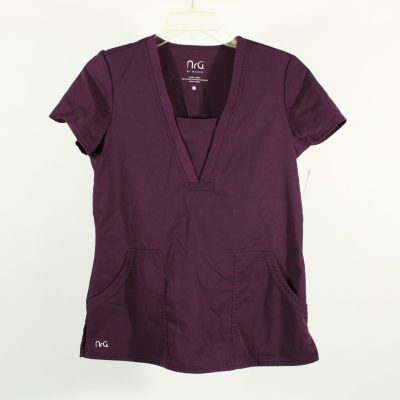 NrG by Barco Purple Scrub Top | Size XS