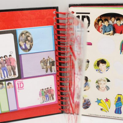 OneDirection Notebook W/ Stickers & Sticky Notes