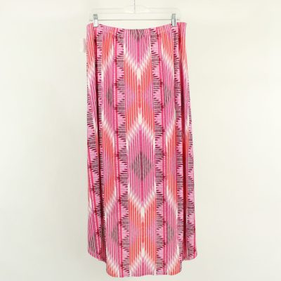 Ruby Rd. Pink Maxi Skirt   Size L