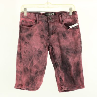 RUDE Tie-Dyed Skinny Denim Shorts | Size 28