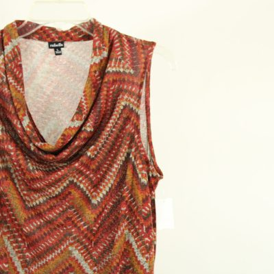Rafaella Knit Patterned Top | Size L