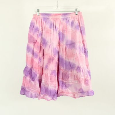River & Rose Pink & Purple Tiered Skirt | Size XL