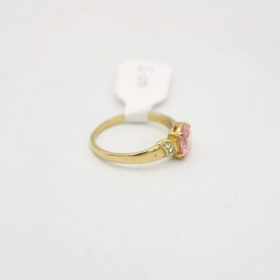 Oval Light Pink Stone Ring | Size 8