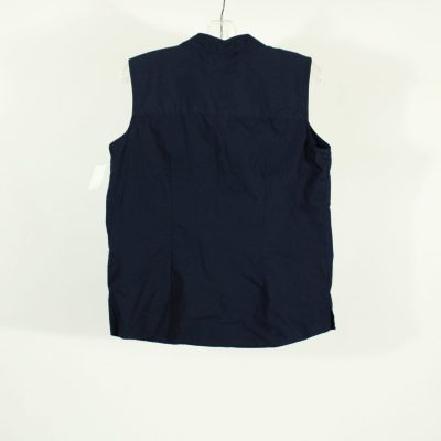 Basic Editions Navy Button Down Top | Size L