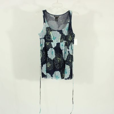 New York & Company Blue Floral Top | Size L