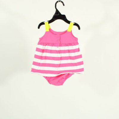 Carter's Pink Striped Lemon Onesie | Size 6M