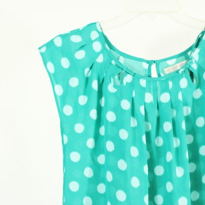 Lauren Conrad Blue Polka Dotted Blouse | Size S