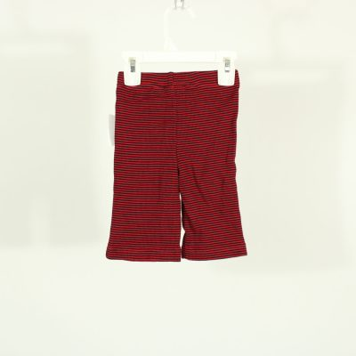 MiniWear Red & Black Striped Pants | Size 3-6 Months