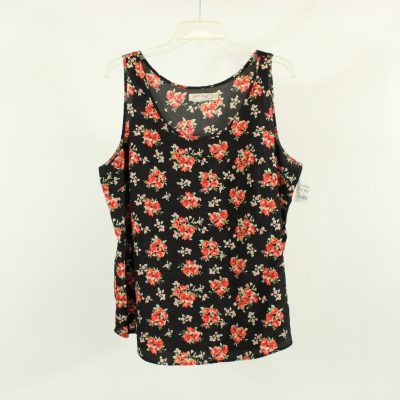 Faded Glory Black Floral Top | Size XL