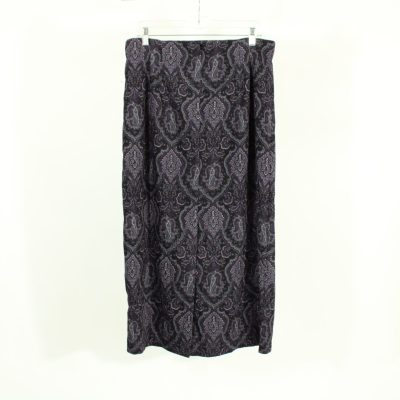 NEW Christopher & Banks Purple Paisley Skirt Suede Finish | Size 12