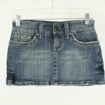 Hydraulic Denim Skirt | Size 0