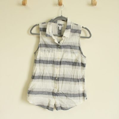 Old Navy Striped Button Down Tank | Size M