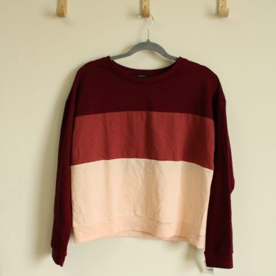 Forever 21 Color Blocked Sweatshirt | Size L