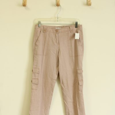 New York & Company Pale Pink Linen Pants | Size 2