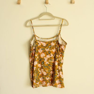 LOFT Outlet Yellow Floral Cami Top | Size XL