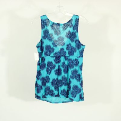 New York & Company Blue Patterned Top | Size L