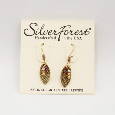 Silver Forest 18K On Surgical Steel Hardware Earrings