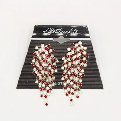 Afterthoughts Surgical Steel Posts Red Droplet Earrings