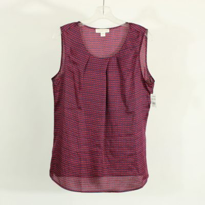 Coldwater Creek Red & Purple Patterned Tank | Size L