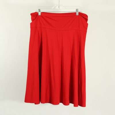 Liz Lange Maternity Red Skirt | Size L
