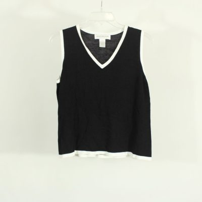 Jones New York Essentials Black Knit Top | Size L