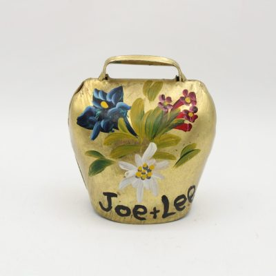 Vintage Painted Brass Bell