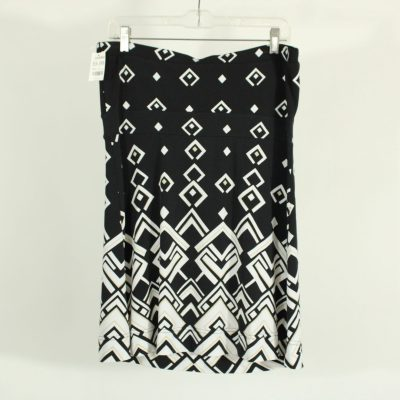 White House Black Market Black & White Patterned Tube Top | Size L