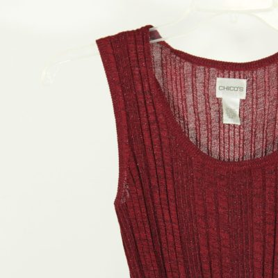 Chico's Red Knit Top | Size 1 (M)