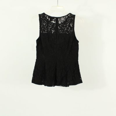 Attention Black Lace Top | Size S