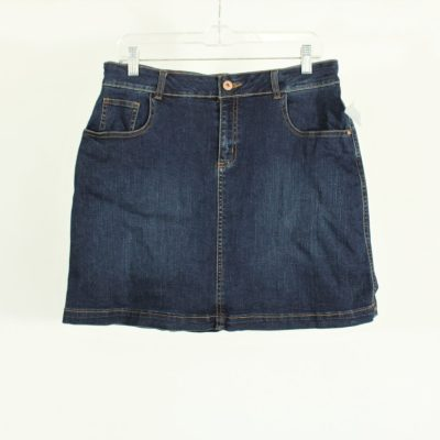 Faded Glory Denim Skirt W/ Built In Shorts | Size 10