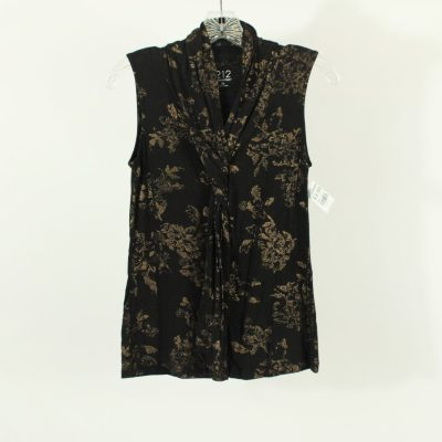 212 Collection Black Gold Leaf Shirt | Size XS