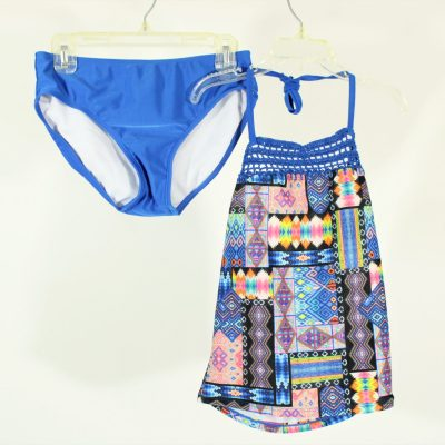 Art Class Blue Patterned Swim Suit | Size 10/12