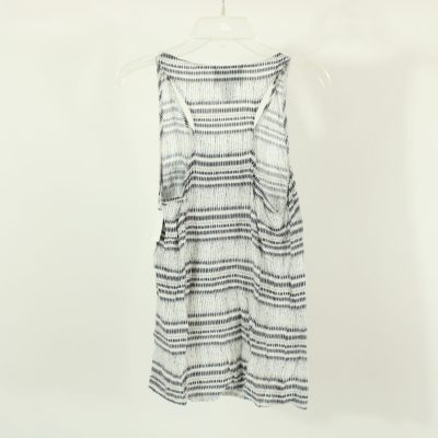 Cynthia Rowley Blue & White Patterned Top | Size S