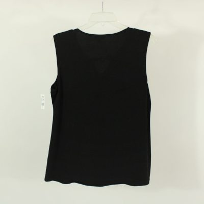 George Black Beaded Neck Top | Size L