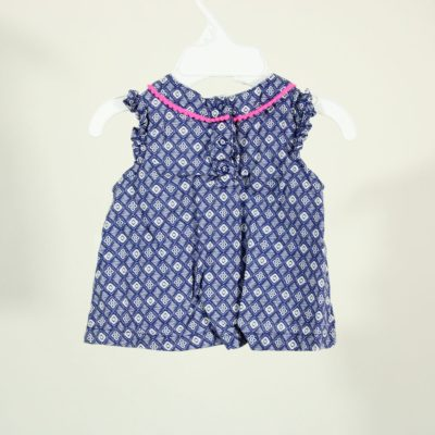 Cherokee Blue Patterned Top | Size 0-3