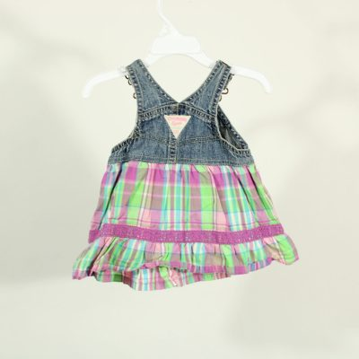 Denim & Plaid Skirt | Size 3 Months
