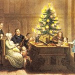 Martin Luther and Family Around Christmas Tree