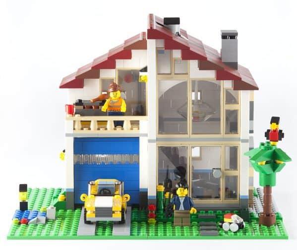 adult child-lego-house