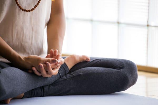 mindfulness meditation at midlife+lotus pose