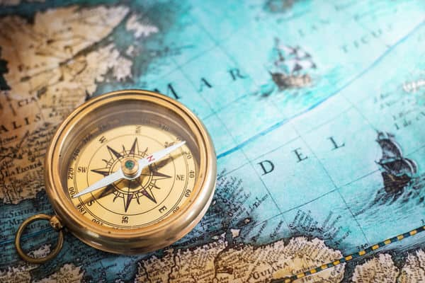 retiring abroad+map-compass