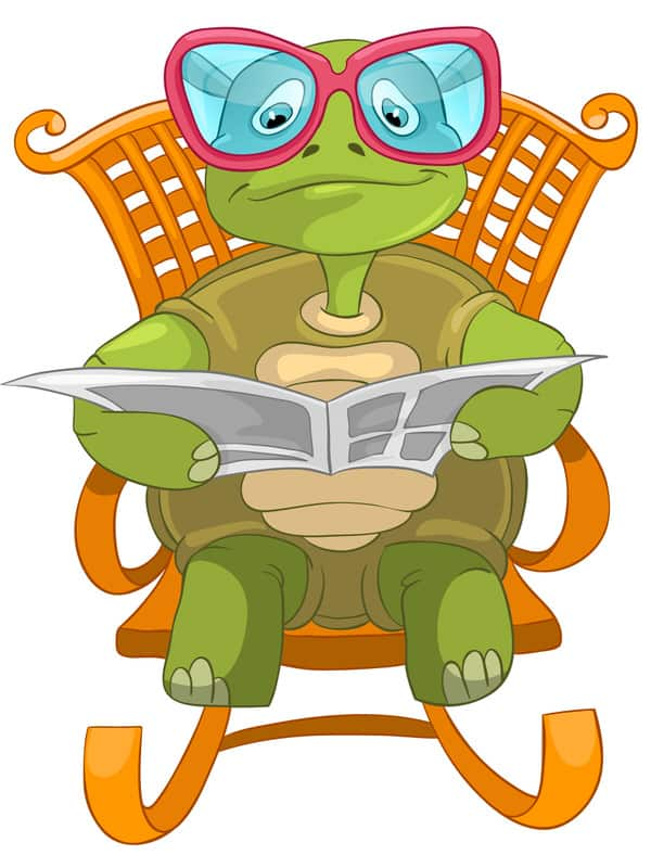 Tips for non-techies+Techie-Turtle_reading