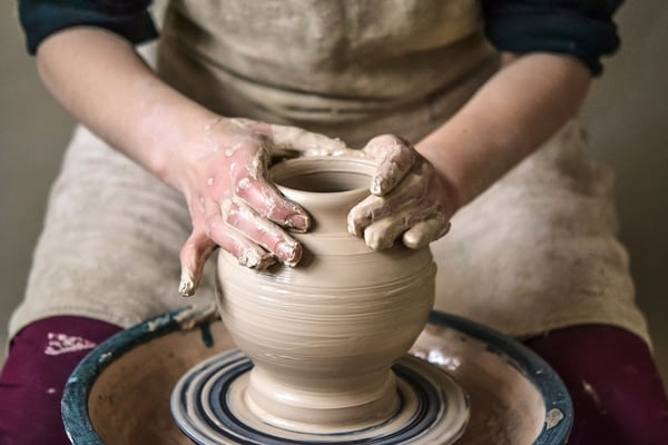 retire and relocate+potters-wheel
