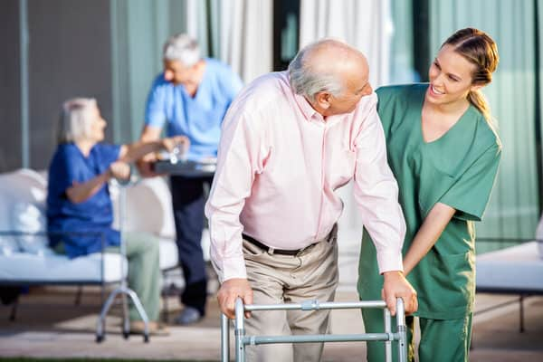decide about LTC insurance+man-with-walker