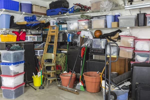 tiny house in retirement+messy-garage